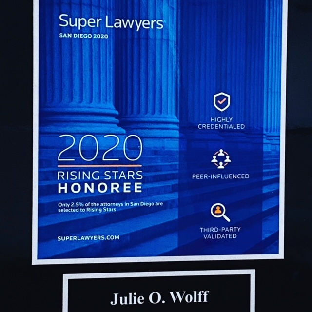 Julie O Wolff Super Lawyer Rising Star Honoree